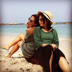 Laugh + friend + beach = life ☺️☺️#beachwear #beach #kepulauanseribu #friends #laugh