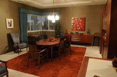 Don Draper S Apartment In Mad Men Apartment Living Room Interior Mad Men Don Draper