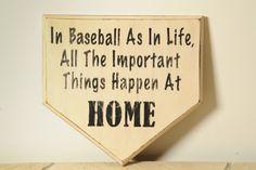 Home Plate Baseball Sign by englertandenglert on Etsy, $20.00