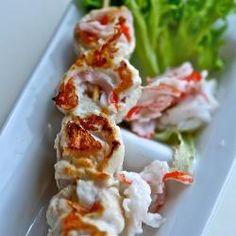 Куриные спиральки с крабовым мясом ( Chicken spirals with crabmeat)
