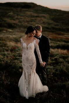 Bohemian Mermaid Wedding Dresses Crew Neck Sheer Long Sleeve Delicate Lace Backless Bridal Gowns · Babybridal · Online Store Powered by Storenvy Pronovias Bridal, Bridal Gowns, Wedding Gowns, Wedding Day, Wedding Stuff, Wedding Dress Sleeves, Dresses With Sleeves, Wedding Couples, Wedding Photos