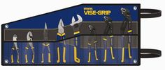 8-pc. Irwin Vice-Grip  pliers set features 3 GrooveLock pliers, the revolutionary new pliers that adjust 50% faster than traditional groove joint pliers with the press of a button. ProTouch grips provide extra comfort and reduce hand fatigue. Pieces (qty.): 8, Case Included: Yes (roll-up bag),...