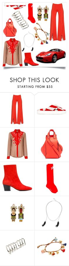 """Fashionable"" by ramakumari ❤ liked on Polyvore featuring Thierry Mugler, MSGM, Roberto Cavalli, Loewe, Dorateymur, Givenchy, Bijoux de Famille, Kendra Scott, Federica Tosi and Chan Luu"