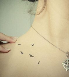 Pretty Bird Tattoos on Shoulder