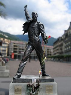 Freddie Mercury Statue on Lake Geneva ~ Montreux, Switzerland