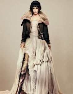 Opulent evening gowns come down to earth with no-nonsense outerwear for revellers on a mission. Styling by Damian Foxe.