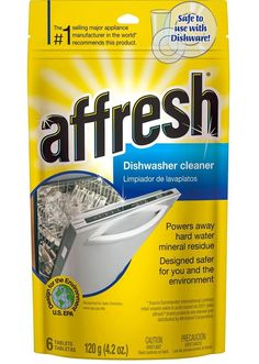 Whirlpool - Affresh Dishwasher and Disposal Cleaner (6-Pack) - Stainless Steel (Silver), W10282479