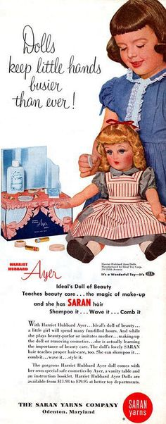 1950/'s Vintage Ideal HARRIET HUBBARD AYER Doll Color Brochure Reproduction