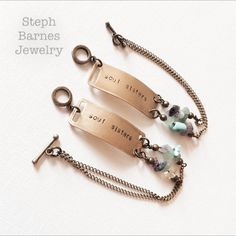 Set of soul sisters bracelets with mixed by StephBarnesWearables