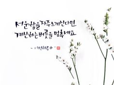 #30.서운함을 자주 느끼는 그대에게_ 키작은 풀 - 커피와 공간의 시간 Wise Quotes, Famous Quotes, Inspirational Quotes, Korean Handwriting, Korean Drama Quotes, Typography, Lettering, Proverbs, Cool Words