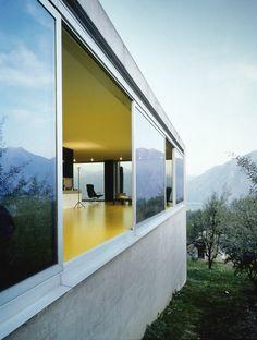 Arch. Livio Vacchini Casa a tenero-Contra (ticino, svizzera) 1991-1992