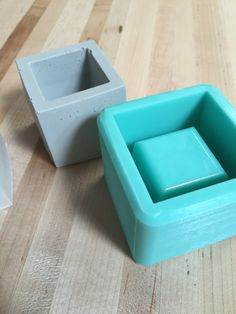 2 Inch Cube Planter Mold Silicone Mold by BoldPrints on Etsy