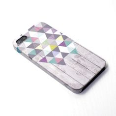 Triangle  wood pattern geometric  iphone case iphone by happybuddy, $13.99