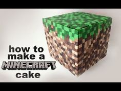 Minecraft Cake Recipe tutorial by Ann Reardon How To Cook That. Step by step tutorial showing how to make a minecraft cake using fondant and buttercream. For how to make a minecraft birthday cake recipe and template: . How to Cook That has step by Minecraft Birthday Cake, Minecraft Cake, Minecraft Party, Cake Decorating Tutorials, Cookie Decorating, Pastel Minecraft, Ideas Paso A Paso, Foundant, Fondant Tutorial