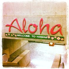 Hawaii International Airport~ The happiest place (arriving) & saddest place (leaving) on earth for me.