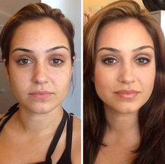 Before and After!  Younique!!! Order your makeover today at: www.youniquelytammyrenee.com