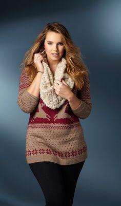 Bree Warren Plus Size Model, cute curves and cute winter style! <3 Http://CurveInspire.com