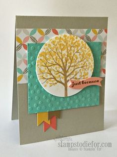 Stampin' Up! Sheltering Tree Stamp Set.  This is a fun set with lots of extras www.stampstodiefo...