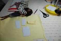 Nenca - zberateľské barbie a tvorba: Žlté sako - postup Barbie Patterns, Heidi Klum, Barbie Clothes, Dressmaking
