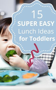 A list of 15 quick and simple lunch ideas based on what my one-year-old toddler has been eating for lunch. Easy toddler lunch ideas you can make in a few minutes. Easy Toddler Lunches, Picky Toddler Meals, Kids Meals, Baby Meals, Toddler Food, Sick Toddler, Toddler School, Toddler Play, Toddler Girls