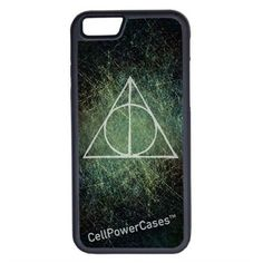 CellPowerCasesTM Harry Potter Deathly Hallows iPhone 6 (4.7) V1 Black... ($9.98) ❤ liked on Polyvore featuring accessories, tech accessories, phone cases and black