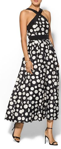 polka dot dress - lets be realistic - this would be cold in GB! Fine in summer in VA!