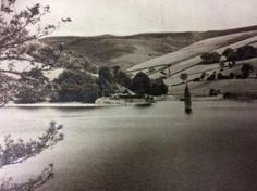 A postcard shows the spire of Derwent's church emerging from the water after the valley was flooded Lost Village, Peak District, Local History, Derbyshire, Going Home, Coventry, Bury, Sheffield, Abandoned