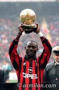 9. GEORGE WEAH -     Date of birth: 1966-10-01,      Place of birth: Monrovia (Liberia),      Role: Forward