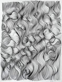 "Saatchi Art Artist: Ken Resen; Pen and Ink 2011 Drawing ""Turbulence"""