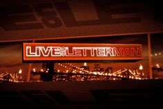 Late Show With David Letterman was the first late-night show Vanessa saw live. Benjamin Bratt was the guest.