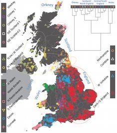 DNA map uncovers UK's secret histories