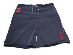 Polo Ralph Lauren 3XLT Mens Swim Suit Trunks Board Shorts Blue Big Red Pony #3 #PoloRalphLauren #BoardShorts