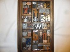 Antique Letterpress Type & Cuts Graphic Design Wood Copper Brass Metal 75 + Pcs