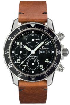 de50f2e9e Sinn Watch Flieger Chronograph 103 St Sa Vintage Cowhide Brown #add-content  #bezel