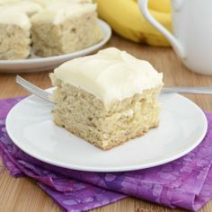 Banana Bars with Cream Cheese Frosting.
