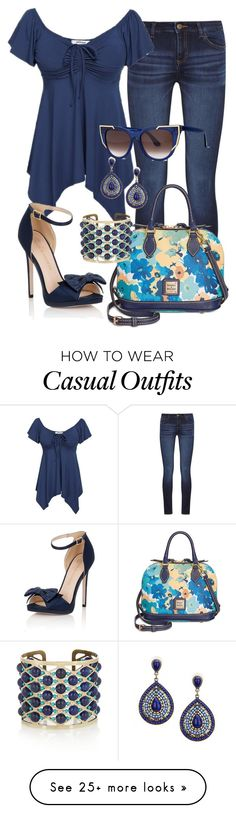 """""""Casual"""" by alice-fortuna on Polyvore featuring DL1961 Premium Denim, Dooney & Bourke, Little Mistress, Etro and Thierry Lasry"""
