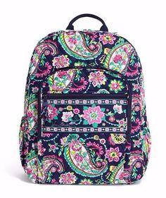 Vera Bradley CAMPUS BACKPACK Large Back Pack Bag ~ PETAL PAISLEY ~ New/NWT #VeraBradley #Backpack