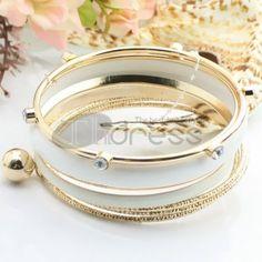 http://www.thdress.com/White-popular-six-laps-alloy-bracelet-p13477.html