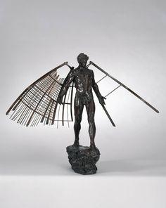 """Homme ailé I""  1998 79 x 102 x 39 cm"