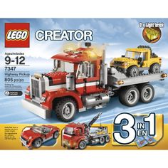 Black Friday 2014 LEGO Creator 7347 Highway Pickup from LEGO Cyber Monday. Black Friday specials on the season most-wanted Christmas gifts. Black Friday Toy Deals, Black Friday Specials, Building Sets For Kids, Building Toys, Lego Creator Sets, The Creator, Light Brick, Lego Toys, Lego Lego