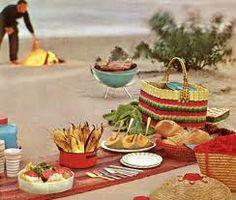 Beach picnic food