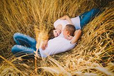 Loving couple in the rye field by NikSorl on @creativemarket