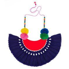Downtown Boogie Woogie tassel pom pom necklace