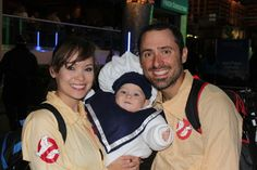 Love this 'Ghostbusters' family costume idea, especially that baby Michelin Man.
