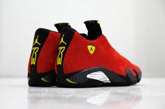 "Air Jordan 14 Retro QS ""Ferrari"" (Release Date & Detailed Pictures) - EU Kicks: Sneaker Magazine Air Jordan Sneakers, New Sneakers, Girls Sneakers, Sneakers Fashion, Jordan 14, Zapatillas Jordan Retro, New Sneaker Releases, Le Tennis, Tennis Match"