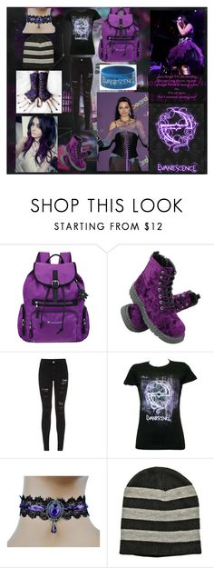 """Evanescence and Purple"" by missmajorhot-123 ❤ liked on Polyvore featuring Sherpani, T.U.K. and Parisian"