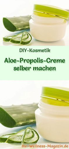 Aloe-Propolis-Creme selber machen - Rezept und Anleitung - Care - Skin care , beauty ideas and skin care tips Proper Nutrition, Health And Nutrition, Health And Wellness, Health Diet, Beauty Make Up, Diy Beauty, What Is Healthy, Healthy Food, Homemade Cosmetics