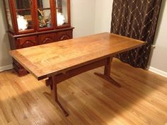 Would be a good Walnut project Fumed Curly Cherry Dining Table