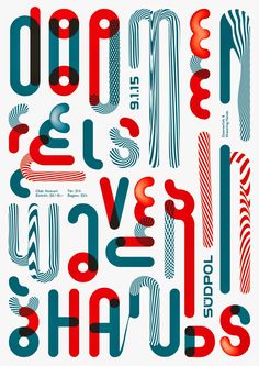 Love the color palette and style of this letter inspired graphic design | Doomenfels, Wavering Hands - Grafik: Felix Pfäffli _