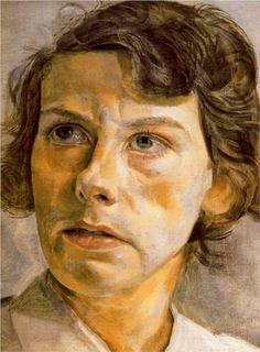 Head of a woman (Portrait of Lady Elizabeth Cavendish) - Lucian Freud (British: 1922- 2011)